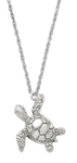 Silver Turtle Cremation Jewelry